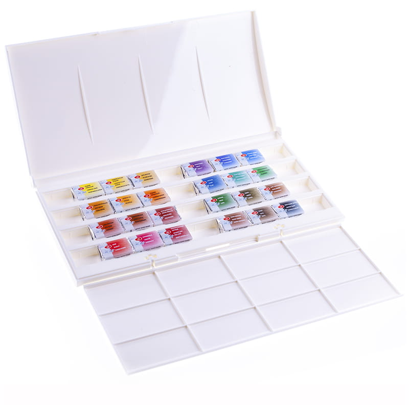 """Краски акварельные художественные 24 цв., """"Белые Ночи"""", кювет 2,5 мл, пластиковая коробка, 1942090"""