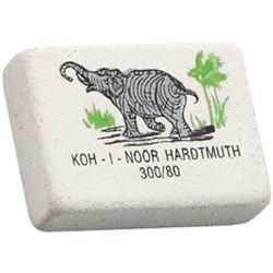 """Ластик Koh-I-Noor """"Elephant"""" 300/80, прямоугольный, натуральный каучук, 26*18,5*8мм, цветной 0300080018KDRU"""