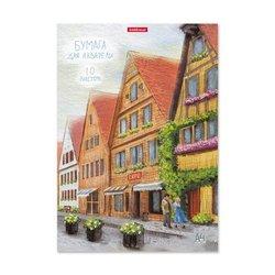 Бумага для акварели в папке ErichKrause® Promenade, А4, 10 листов 51527