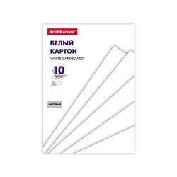 Белый картон на клею ErichKrause® Basic, А5, 10 листов, игрушка-набор для детского творчества 53159
