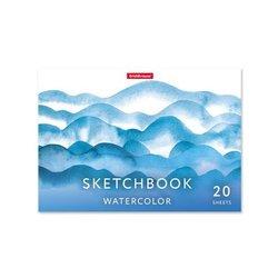 Альбом для эскизов на клею ErichKrause® Nature, А5, 20 листов, бумага акварельная 53131