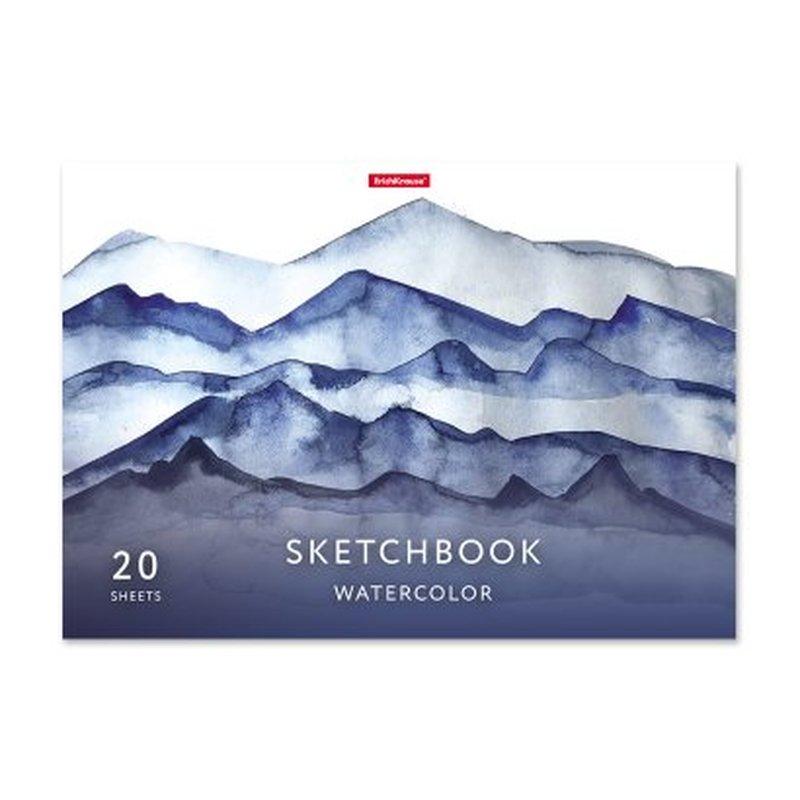 Альбом для эскизов на клею ErichKrause® Nature, А4, 20 листов, бумага акварельная 53130