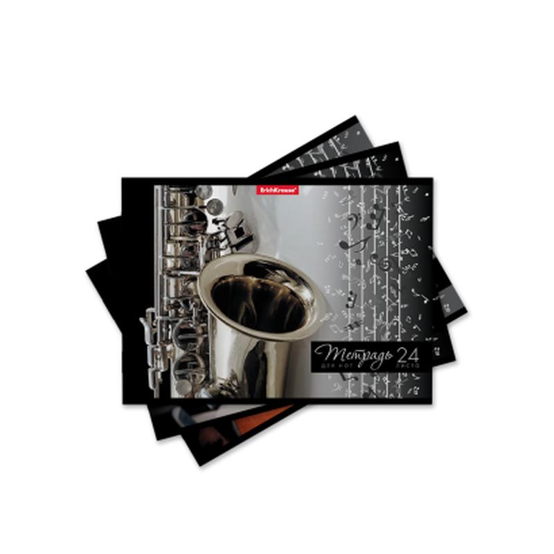 Тетрадь для нот на скобе ErichKrause® Мелодия, А5, 24 листа, горизонтальная ориентация 49698