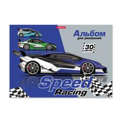 Альбом для рисования на клею ErichKrause® Speed Racing, А4, 30 листов 49835