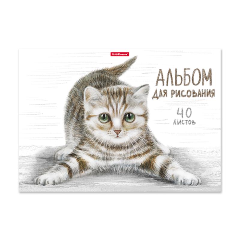 Альбом для рисования на клею ErichKrause® Tabby, А4, 40 листов 49844