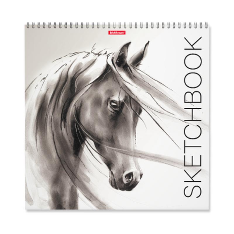 Альбом для эскизов на спирали ErichKrause® Wild Horse, 297x297 мм, 40 листов 48036