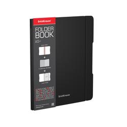 Тетрадь общая ученическая в съемной пластиковой обложке ErichKrause® FolderBook, черный, А5+, 48 листов, клетка 48016