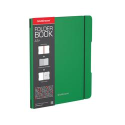 Тетрадь общая ученическая в съемной пластиковой обложке ErichKrause® FolderBook, зеленый, А5+, 48 листов, клетка 48018