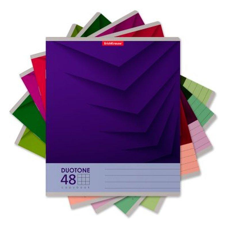 Тетрадь общая ученическая ErichKrause® 48 листов в клетку. Duotone Next, 47510
