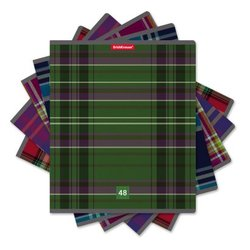 Тетрадь общая ученическая ErichKrause® 48 листов в клетку. Scottish Cage, 42633 47516