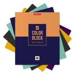 Тетрадь общая ученическая ErichKrause® 48 листов в клетку. Color Block, 49578