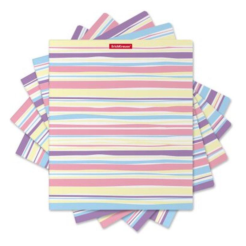 Тетрадь общая ученическая ErichKrause® 48 листов в клетку. Pastel Lines, 51400