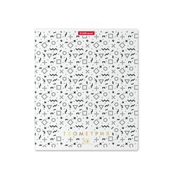 Тетрадь общая ученическая ErichKrause® Ассоциации, Геометрия, 48 листов, клетка, матовая ламинация + тиснение фольгой 49431
