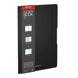 Тетрадь общая ученическая в съемной пластиковой обложке ErichKrause® FolderBook, черный, А4, 48 листов, клетка 48225