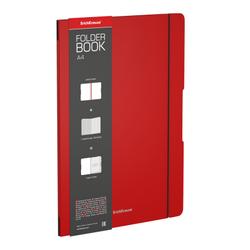 Тетрадь общая ученическая в съемной пластиковой обложке ErichKrause® FolderBook, красный, А4, 48 листов, клетка 48228