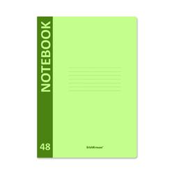 Тетрадь общая ученическая с пластиковой обложкой на скобе ErichKrause® Neon, зеленый, А4, 48 листов, клетка 48221