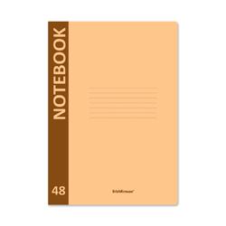 Тетрадь общая ученическая с пластиковой обложкой на скобе ErichKrause® Neon, оранжевый, А4, 48 листов, клетка 48222