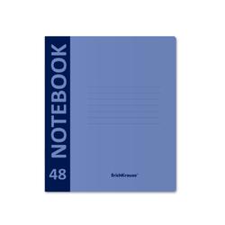 Тетрадь общая ученическая с пластиковой обложкой на скобе ErichKrause® Neon, голубой, А5+, 48 листов, клетка 46937