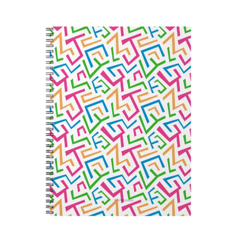 Тетрадь общая с пластиковой обложкой на спирали ErichKrause® Lines, А4, 60 листов, клетка 45973