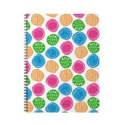 Тетрадь общая с пластиковой обложкой на спирали ErichKrause® Buttons, А4, 60 листов, клетка 45975