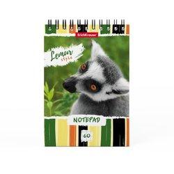 Блокнот на спирали ErichKrause® Lemur Style, А6, 60 листов, клетка 49664