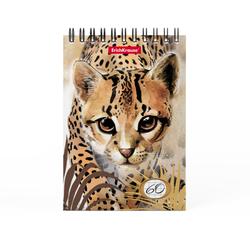 Блокнот на спирали ErichKrause® Wild Cat, А6, 60 листов, клетка 49667