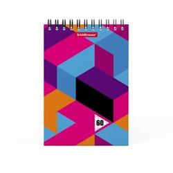 Блокнот на спирали ErichKrause® Disco Style, А6, 60 листов, клетка 49669