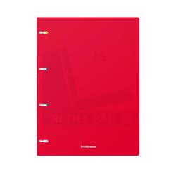 Тетрадь общая с пластиковой обложкой на кольцах ErichKrause® Classic, красный, А4, 80 листов, клетка 47376