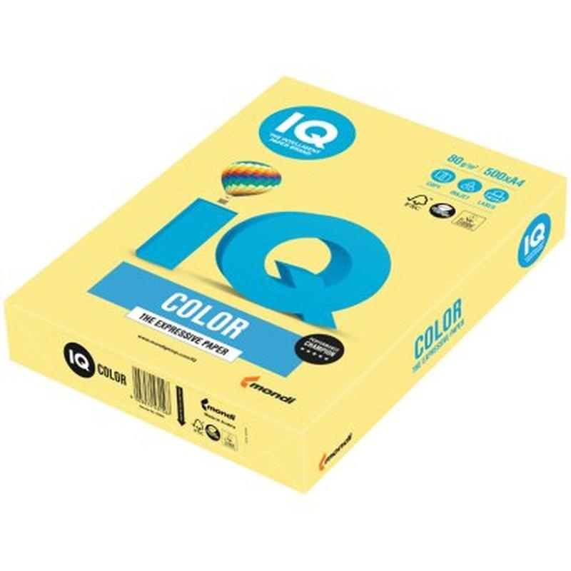 "Бумага IQ ""Color trend"" А4, 80г/м2, 500л. (лимонно-жёлтый) ZG34"