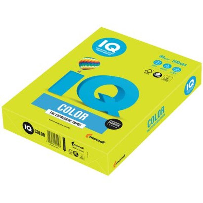 """Бумага IQ """"Color neon"""" А4, 80г/м2, 500л. (зелёный неон) NEOGN"""