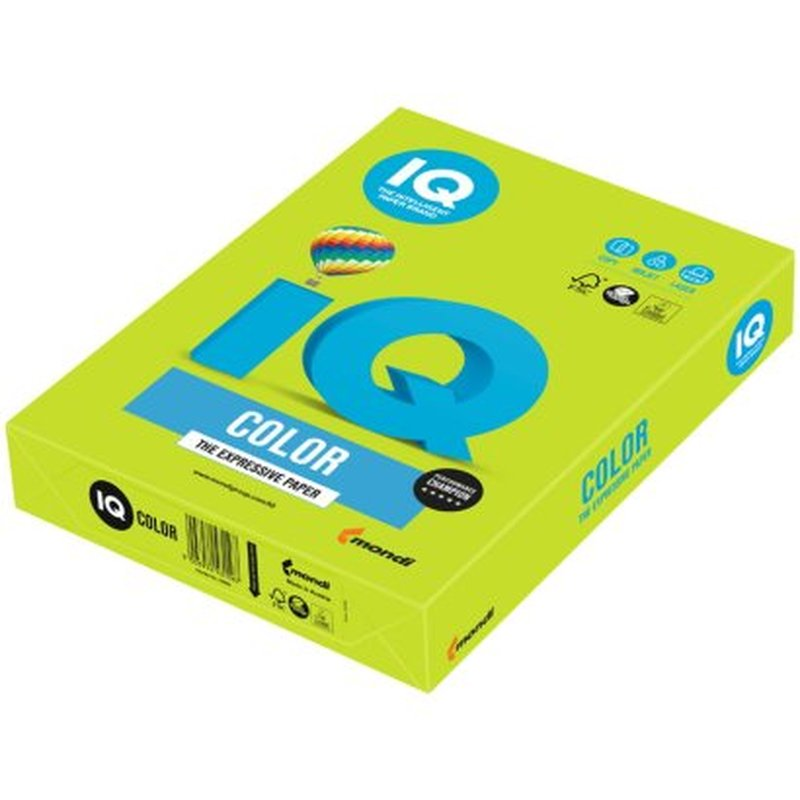 """Бумага IQ """"Color intensive"""" А4, 80г/м2, 500л. (зелёная липа) LG46"""
