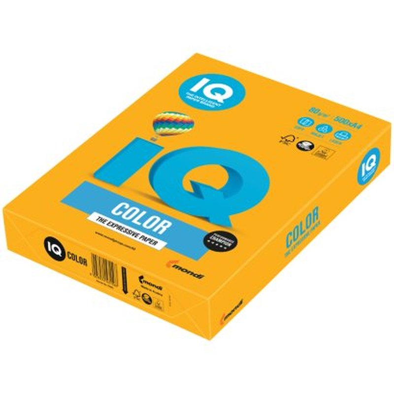 """Бумага IQ """"Color trend"""" А4, 80г/м2, 500л. (старое золото) AG10"""