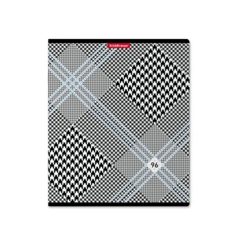 Тетрадь общая ErichKrause® 96 листов в клетку. Black&White, 49652