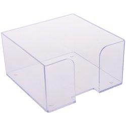 Подставка для бумажного блока Стамм, 9*9*5, прозрачный ПЛ61