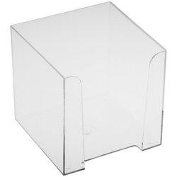 Подставка для бумажного блока Стамм, 9*9*9, прозрачный ПЛ41