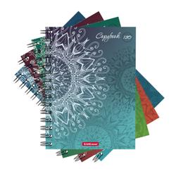 Тетрадь общая на спирали ErichKrause® Rosette, А5, 120 листов, клетка, ламинация матовая 42698