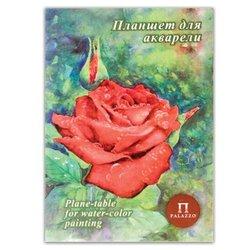 """Папка для акварели/планшет, А4, 210х297 мм, 20 л., 200 г/м2, бумага ГОЗНАК """"Скорлупа"""", """"Алая роза"""", ПЛАР/А4"""