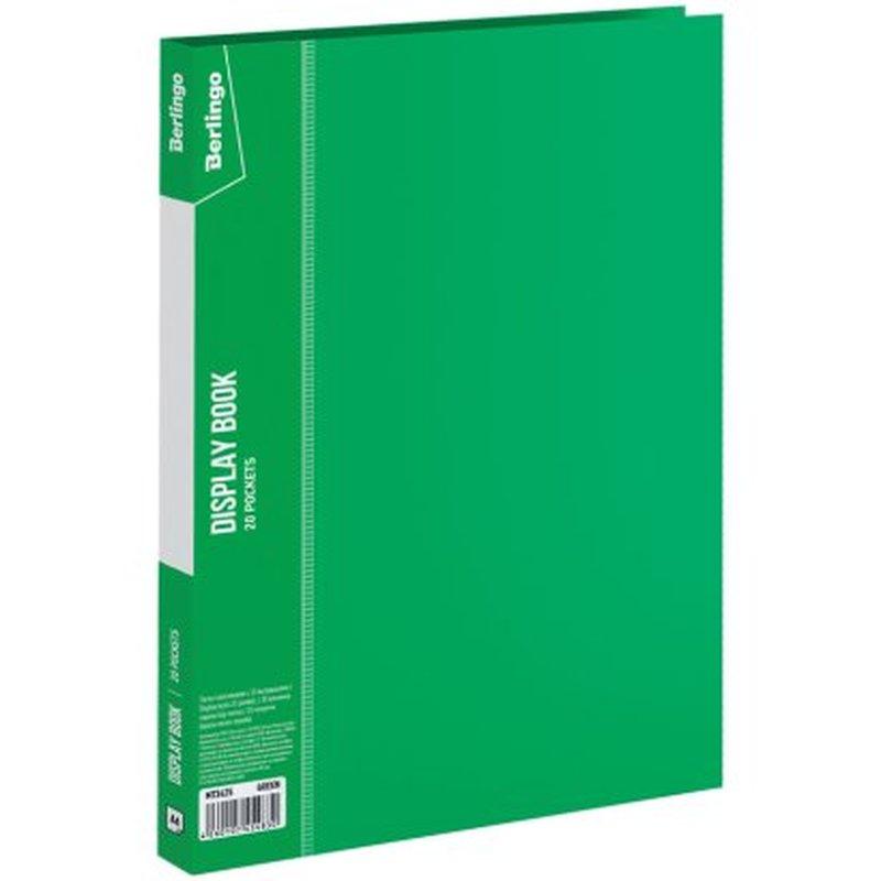 """Папка с 20 вкладышами Berlingo """"Standard"""", 14мм, 600мкм, зеленая MT2425"""