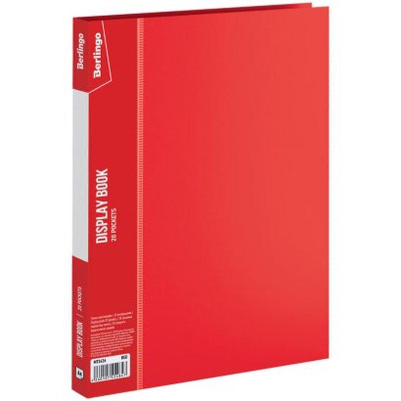 """Папка с 20 вкладышами Berlingo """"Standard"""", 14мм, 600мкм, красная MT2426"""