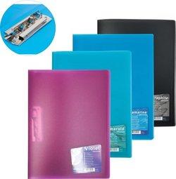 Папка с боковым зажимом пластиковая ErichKrause®  Vivid Сolors A4, ассорти 14541
