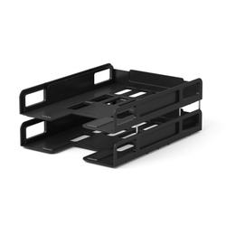 Набор из 2 пластиковых лотков-трансформеров для бумаг ErichKrause® Techno, черный 15043