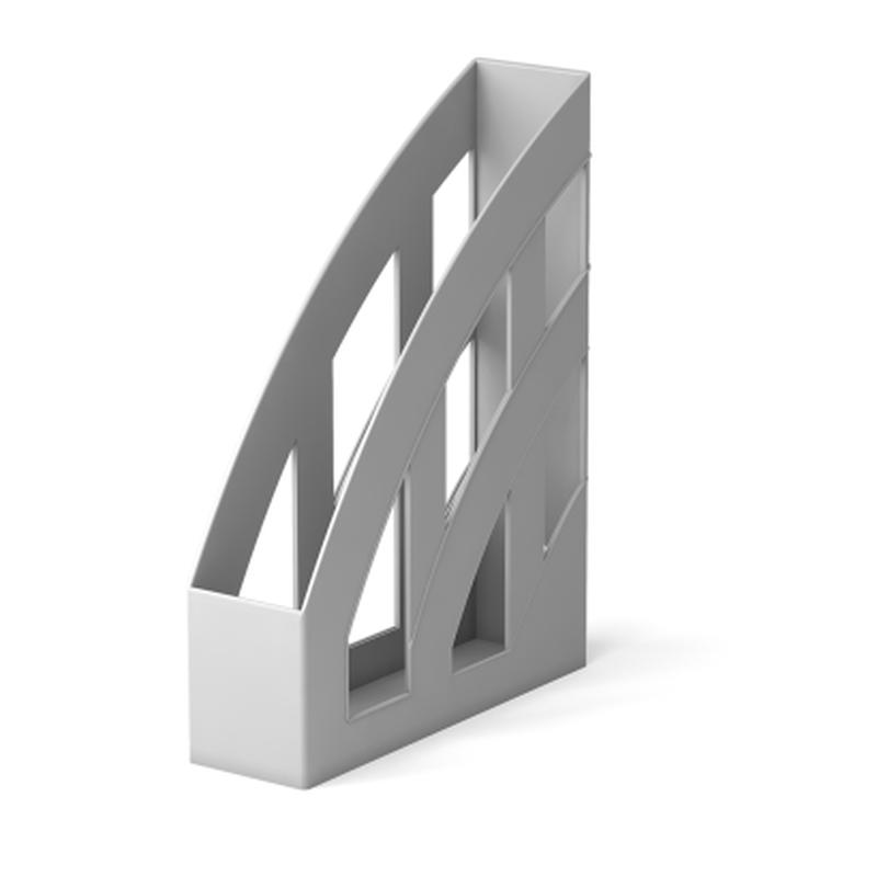 Подставка пластиковая для бумаг вертикальная ErichKrause® Office, 75мм, серый 15120