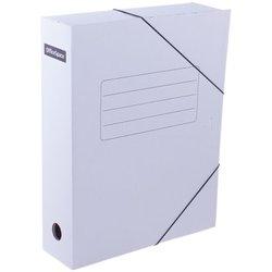 Папка архивная на резинках OfficeSpace, микрогофрокартон,  75мм, белая, до 700л. 158548
