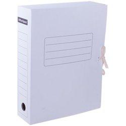 Папка архивная с завязками OfficeSpace, микрогофрокартон,  75мм, белый, до 700л. 158550