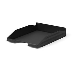 Лоток пластиковый для бумаг ErichKrause® Office, черный 16249