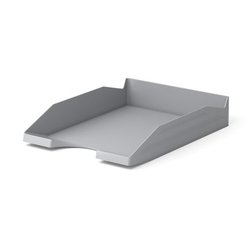 Лоток пластиковый для бумаг ErichKrause® Office, серый 16250