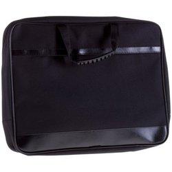 """Сумка деловая OfficeSpace """"Ancona"""" ткань, черный, 2 отделения, молния По_ТК_688"""
