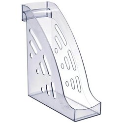 """Лоток для бумаг вертикальный Стамм """"Торнадо"""", прозрачный. ЛТ402"""