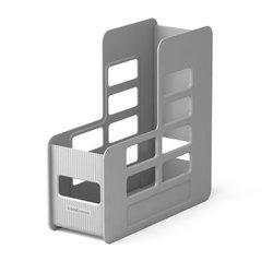 Подставка пластиковая для бумаг вертикальная ErichKrause® Techno, 100мм, серый 16588