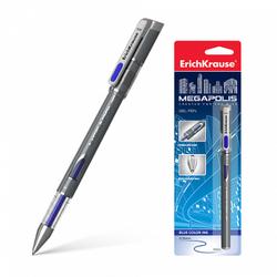 Ручка гелевая ErichKrause® MEGAPOLIS® Gel, цвет чернил синий (в блистере по 1 шт.) 17751